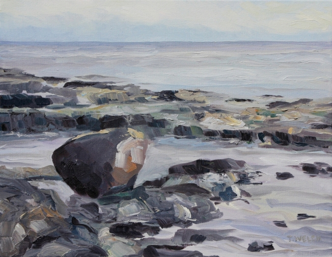 Reef Bay morning experienced 11 x 14 inch oil on canvas by Terrill Welch 2012_12_20 016