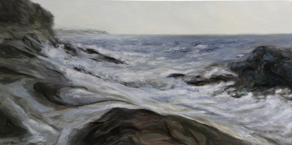 Rhythm of the Sea Edith Point 20 x 40 inch oil on canvas by Terrill Welch 2013_04_03 079