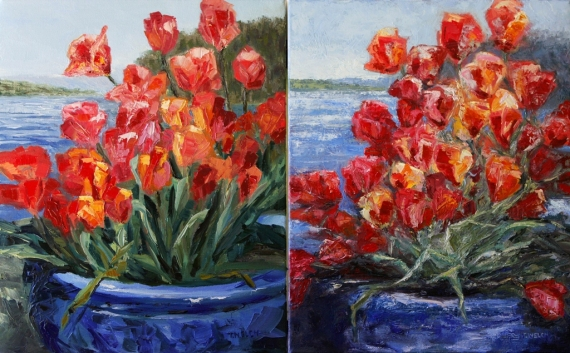sister paintings Tulips Springwater Deck by Terrill Welch 2013_05_04 065