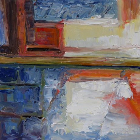 morning in the kitchen - 6 x 6 inch oil on gessoboard by Terrill Welch 2013_08_23 069