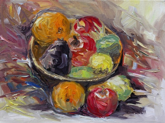 Bowl of Winter Fruit by Terrill Welch 2014_02_08 099