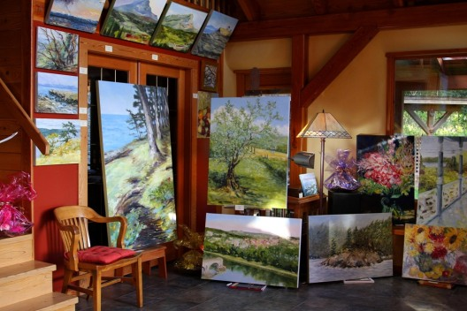 Open Studio online and in-person event Nov 8 and 9 2014 by Terrill Welch 2014_11_07 012