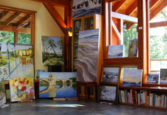 Open Studio Great Room contemporary landscape paintings by Canadian artistTerrill Welch 2014_11_07 013