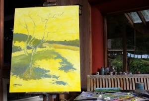 The Olive Tree in progress  2 40 x 30 inch oil on canvas by Terrill Welch 2014_10_02 048