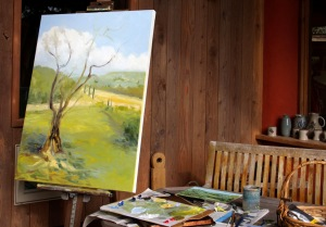 The Olive Tree in progress 4 40 x 30 inch oil on canvas by Terrill Welch 2014_10_02 064