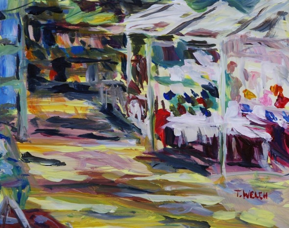 Summer Market 8 x 10 inch acrylic painting sketch by Terrill Welch 2014_08_08 117