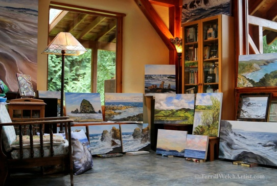 A few of hte paintings in the Open Studio event Nov 14 15 2015 by Terrill Welch 2015_11_13 003